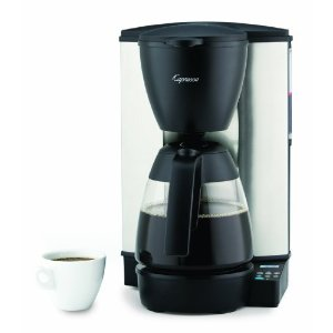 Capresso MG600 10-Cup Programmable Coffeemaker with Glass Carafe