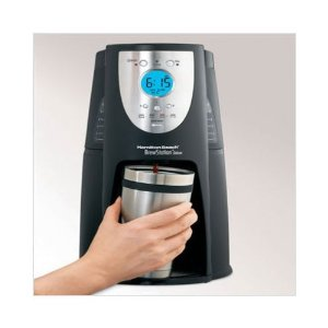 Hamilton Beach Black Deluxe Brew Station Digital Coffee Maker 12-c.