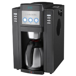 Kalorik CCG-24104 Magic Bean 1350-Watt Programmable 10-Cup Automatic Drip Coffeemaker with Burr Grinder