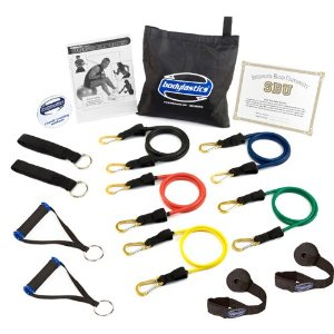 Bodylastics ***MAX TENSION Heavy Duty Resistance Bands System with User Book & DVD