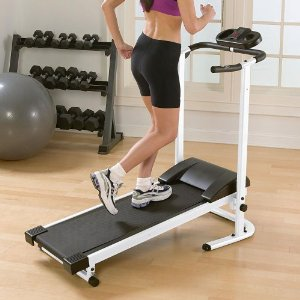 Folding Manual Treadmill with Incline