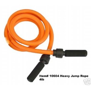 4 lb Orange Heavy Power Jump Rope / Weighted Jump Rope