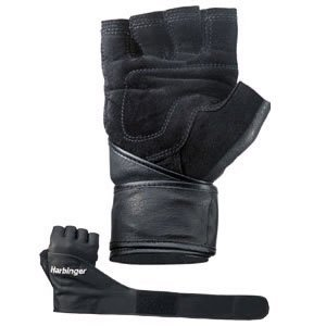 Harbinger Classic Wristwrap Leather Gloves