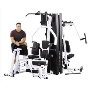 Body Solid SELECTORIZED Home Gym with Lamar Advantage Walk-Thru Recumbent Exercise Bike EXM3000LPS_3450