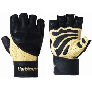 Harbinger 1205 Big Grip II WristWrap Weight Lifting Gloves