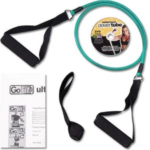 GoFit Ultimate 4-Foot Heavy Resistance Ultimate Power Tube with Core Performance DVD (Green / 15-Pound)