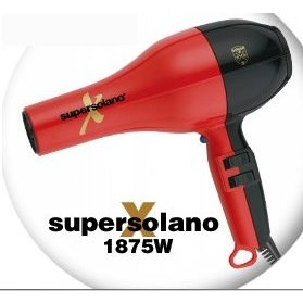 RETURN - Super X Solano 232X 1875 Watt Professional Hair Dryer, Red