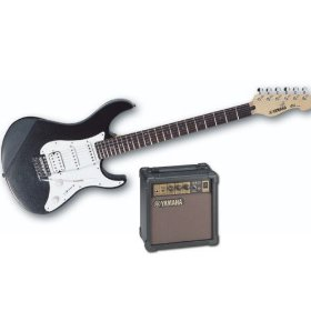 Yamaha EGP 112-C2 (Limited Edition) Electric Guitar with Amplifier Combo (Black on Black)