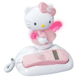 Hello Kitty Bling Corded Phone with Caller ID - KT2012