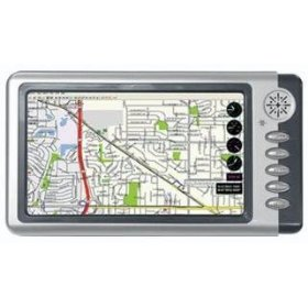 Performance Teknique ICBM-GUIDE 7 inch TFT Wide Touchscreen Portable GPS Navigation System with USA & Canada Maps and SD Memory Card Reader