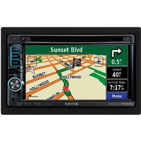 Kenwood DNX6140 6.1-Inch Wide Double-DIN In-Dash Nagivation with Built-in Bluetooth USB/iPod Direct Control/DVD Receiver