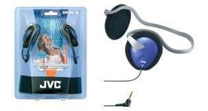 Jvc hab5a blue headphone stereo xb