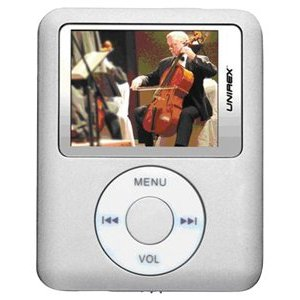 Unirex MP4/MP3 Player 4GB -Silver (MPX-28G4SSL)