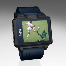 2GB 1.8'' MP4 Watch(Black frame, Black belt)(MP3, Video, Photo, FM, Flash Disk, Record)