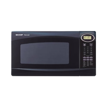 Sharp r308nk black microwave 1.0cf 1100w turntable