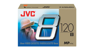Jvc p6120jdu3 8mm tape 3 pack
