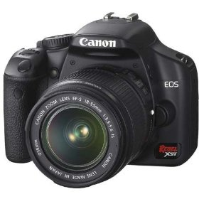 Canon EOS Digital Rebel XSi SLR Camera Body Kit - Black - with EF-S 18-55mm f/3.5-5.6 Image Stabilizer Lens - Refurbished