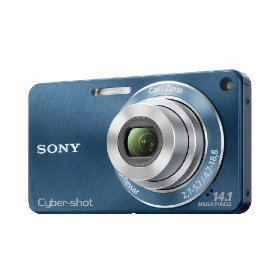 Sony DSC-W350 14.1MP Digital Camera with 4x Wide Angle Zoom with Optical Steady Shot Image Stabilization and 2.7 inch LCD (Blue)