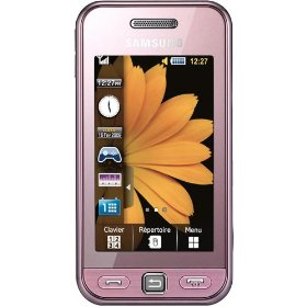 Samsung Star s5230 Unlocked PhoneFull Touch Screen Quad Band GSM Bluetooth, 3.2 MP Camera, Voice Record, MP3, MP4 Speaker--U.S. Version with 1 Year Warranty(Soft Pink)