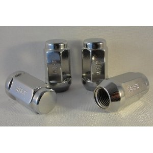 14x1.5 Chrome Heat Treated Extra Long Bulge Acorn Lug Nuts 13/16