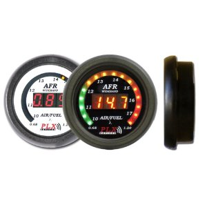 PLX Devices DM-5 Wideband O2 Air Fuel Ratio Gauge, White