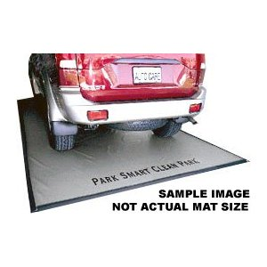 Park Smart Clean Park Garage Mats - Silver Oil Drip Mat