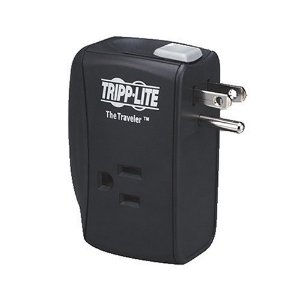 Tripp Lite TRAVELER Protect It! Surge Protector/Suppressor 2 outlets (2 Transformers) For Laptop Use, Direct Plug-In 1050 Joules