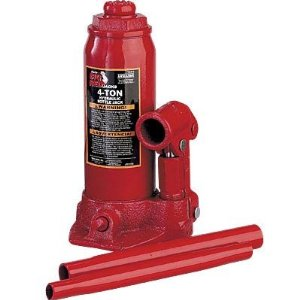 Torin Big Red Hydraulic Bottle Jack - 4-Ton, Model# T90403