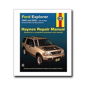Haynes Ford Explorer and Mercury Mountaineer (2002 - 2003) Repair Manual