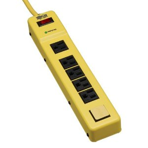 Tripp Lite TLM626SA 6-Outlet Safety Surge Protector with Metal Housing (420 Joules, OSHA Yellow)