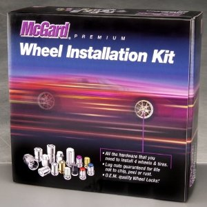 McGard 84554 Chrome Cone Seat Wheel Installation Kit (M12 x 1.25 Thread Size) - For 5 Lug Wheels