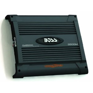 BOSS CW3500D CHAOS WIRED 3500 Watts Class D Monoblock Power Amplifier with Subwoofer Level Control