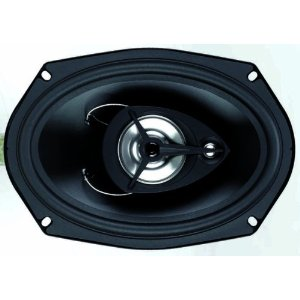 BOSS SE693 3-Way 6-Inch x 9-Inch Black Poly Injection Cone Speaker