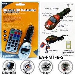 FM WIRELESS Transmitter with Built in Sd & Usb Slot Remote Control