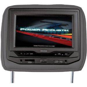 Power Acoustik HDVD-93BG Single 9-Inch Replacement Headrest with DVD and Video Monitor (Beige)