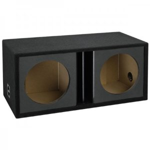 Atrend Zv12D-Black Atrend Series 12-Inch Dual Vented Chambered Kandy Kolor Enclosure (Black)