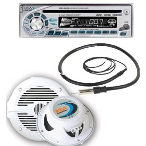 Boss Marine MR1460S Marine Audio System Silver