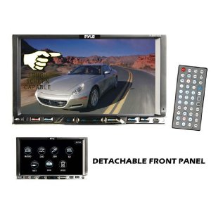 Pyle - PLDN750D; 7'' Double Din TFT Touch Screen DVD/MPEG4/MP3/DIVX/CD-R/USB/SD/AM/FM/RDS