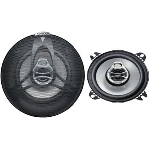 Kenwood KFC-1061S 4-Inch 120-Watt Max Power Three-Way Speaker System