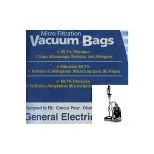 General Electric Canister Bags Cn-1, 9 Pack