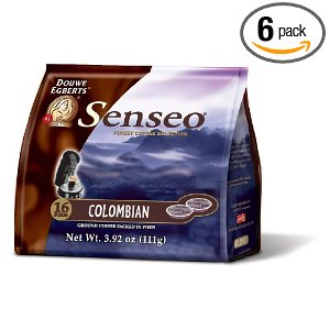 Senseo Colombia Blend Coffee, 16-Count Pods (Pack of 6)