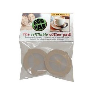 New Improved Brown Ecopad, the Refillable Coffee Filter for the Senseo