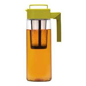 Takeya Iced Tea Maker with Silicone Handle, Avocado/Olive, 66-Ounce