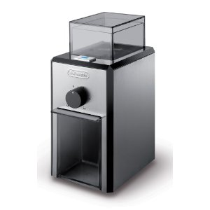 DeLonghi KG89 Electric 12-Cup Burr Grinder, Stainless