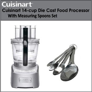 Cuisinart FP-14DC Elite 14-cup Die Cast Food Processor With Stainless Steel Measuring Spoons 4 Piece Set