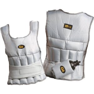 GoFit 10-Pound Walking Vest with Removable Water Bottle Holder