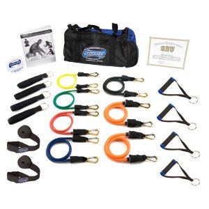 Bodylastics Terrell Owens Super Strong Man Heavy Duty Resistance Bands System with User Book & DVD