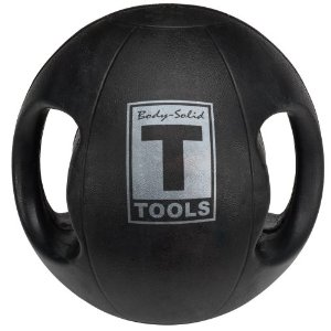 Body Solid Tools BSTDMB20 20-Pound Dual Grip Medicine Ball