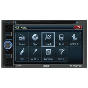Clarion NX409 6.5-Inch Double-DIN Mulitmedia Station with Touch Panel Control, USB, and Built-In Navigation System
