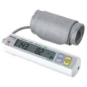 Panasonic EW3109ACW Portable Automatic Arm Blood Pressure Monitor with AC Adapter, (White)